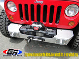 GenRight Jeep JK Front Syubby Winch Bumper - Aluminum