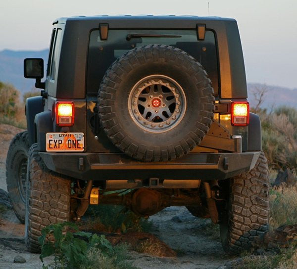 Expedition One Jeep JK Rear Bumper & Tire Carrier