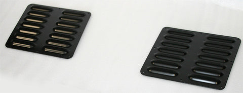 GenRight Jeep 2 Piece Short Hood Louver Set