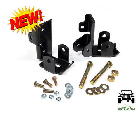 JKS Jeep JK Lower Rear Shock Relocation Bracket