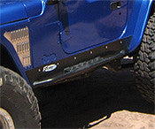 GenRight Jeep TJ Rocker Guard w/ Step Set - Steel