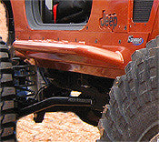 GenRight Jeep TJ, YJ, CJ Mini Boat Sides Rocker Guard w/ Step Set - Steel