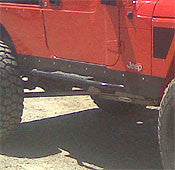 GenRight Jeep LJ STRETCH Rocker Guard w/ Step Set - Steel