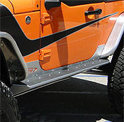 GenRight Jeep JK 2 Door Rocker Guards - Aluminum