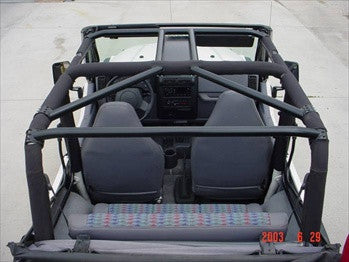 Rock Gard 4x4 Jeep TJ / LJ Complete Sport Cage, Front, Angle and Straight Accross the Rear Bars