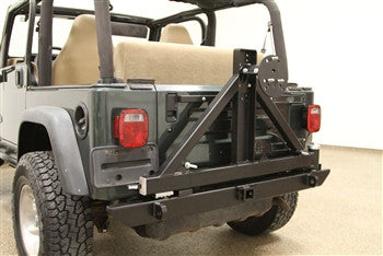 Rock Hard 4x4 Jeep TJ / LJ, YJ, CJ Rear Bumper w/ Tire Carrier