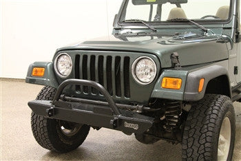 Rock Hard 4x4 Jeep TJ / LJ, YJ, CJ Front Bumper w/ Straight Up Hoop, 46 Inch
