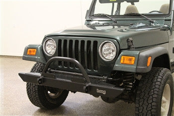 Rock Hard 4x4 Jeep TJ / LJ, YJ, CJ Front Bumper w/ Straight Up Hoop, 54 Inch
