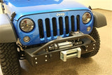 Rock Hard 4x4 Jeep JK Front Stubby Bumper w/ Lowered Winch Mount
