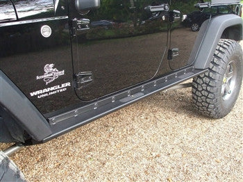Rock Hard 4x4 Jeep JK Boat Side Rock Sliders Smooth Plate