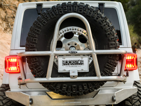 GenRight Jeep JLU / JL) SWING OUT REAR TIRE CARRIER - ALUMINUM