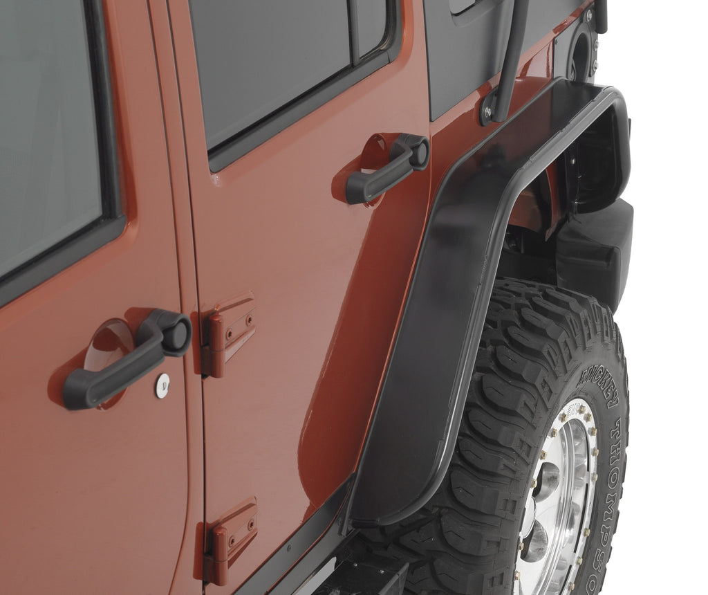 Warrior Products Jeep JK 2 Door Rear Tube Fender Flares 4.5 Inch Wide