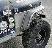 GenRight Jeep CJ Front 6 Inch Tube Fenders - Steel