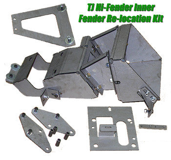 GenRight Jeep TJ / LJ Hi Fender Inner Fender Mounting Kit