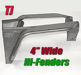 GenRight Jeep TJ / LJ Front 4 Inch Hi-Tube Fenders - Steel
