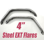GenRight Jeep 4 Inch Extreme Rear Tube Flare Set - Steel