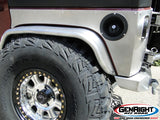 GenRight Jeep JK 4 Inch Rear Tube Fenders - Aluminum