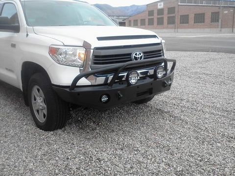 Expedition One 2014+Toyota Tundra Bumper with Pre-Runner Hoops