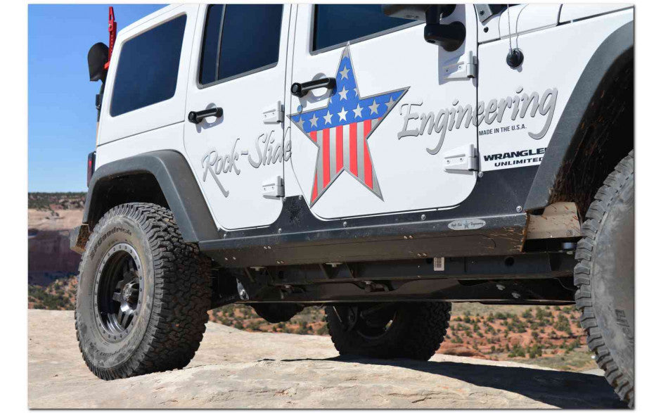 Rock-Slide Engineering Jeep JK Step Sliders with Body Armor