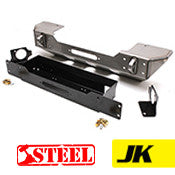 GenRight Jeep JK Front Stubby Winch Bumper - Steel