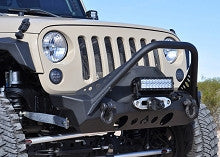Artec Industries Jeep JK Front NighrHawk Bumper with Mid Tube Stinger