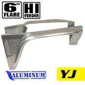 GenRight Jeep YJ 6 Inch Front Hi Tube Fender Set - Aluminum
