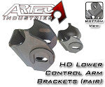 Artec Industries Jeep TJ / LJ Dana 30 / 44 Front HD Lower Control Arm Brackets **Slotted/Horseshoe Version**(pair)