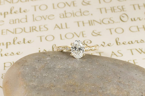 custom oval engagement ring
