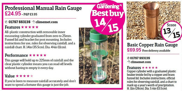 ClimeMET: Amateur Gardening's Best Buy!