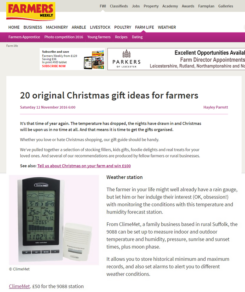 Farmers Weekly Christmas Gift Guide