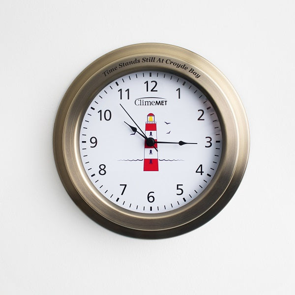 CM4120 Red Lighthouse Wall Clock