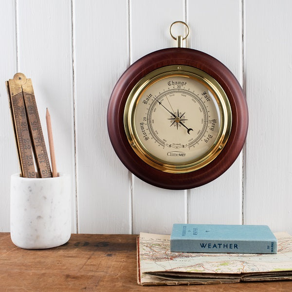 CM4202 Traditional Wooden Barometer