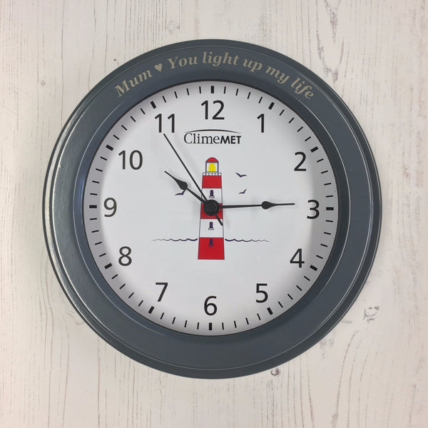 Cm4120 Red Lighthouse Wall Clock Climemet