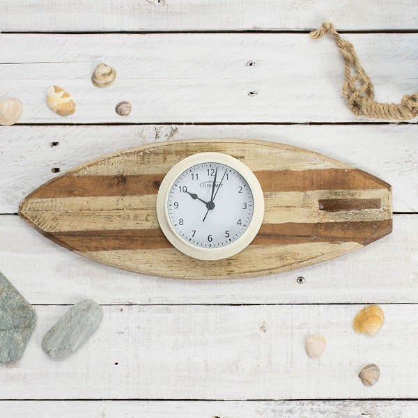 'Surf's Up' Surfboard With Clock Or Tide Clock
