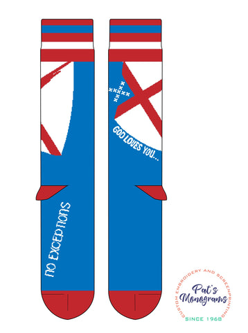 "Episcopal ""God loves you...no exceptions"" Socks"