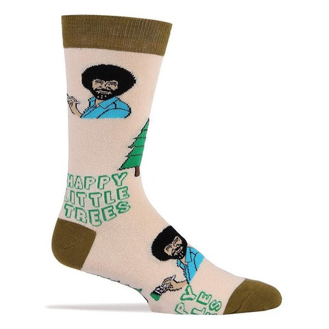 Always Happy Trees - Bob Ross - Crew Socks