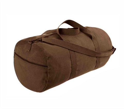 "24"" Heavy Canvas Military Style Duffel Bag"