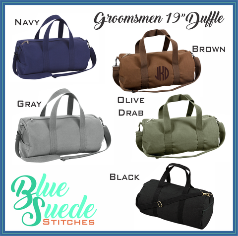 "19"" Heavy Canvas Military Style Duffel Bag"