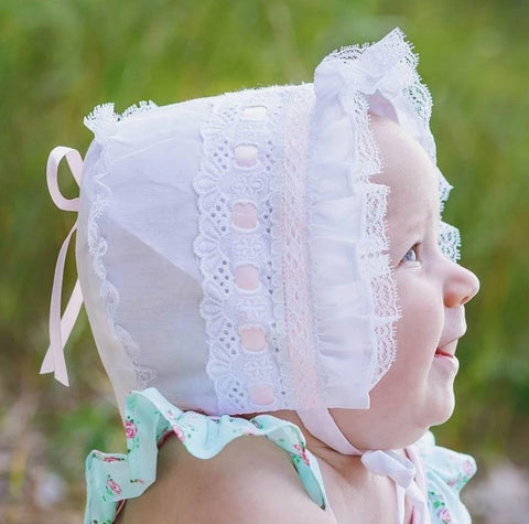 Pink Ribbon Bonnet Bonnet
