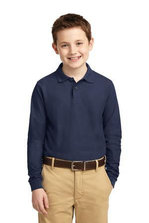 Veritas - Port Authority Unisex Youth Long Sleeve Silk Touch Polo