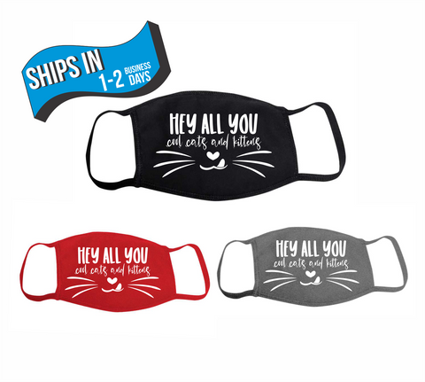 Cats and Kittens Washable Face Mask - Protective Face Covering