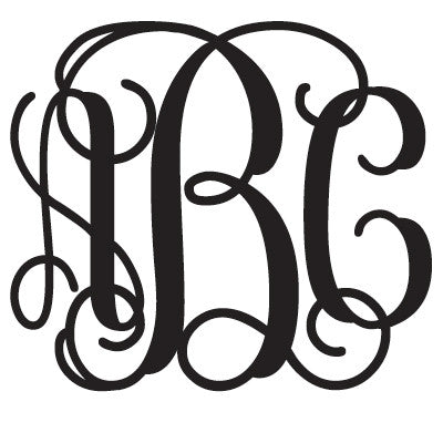 Basic Monogram Sticker