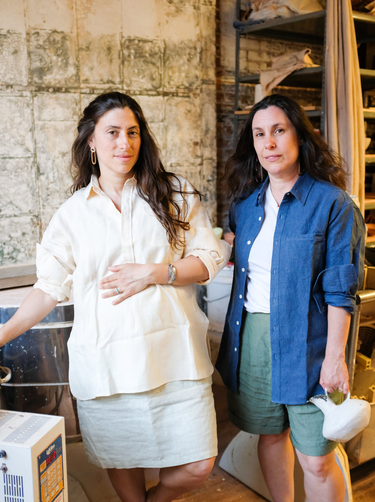 MONDAYS Ceramics's Nina and Jennifer in Blluemade