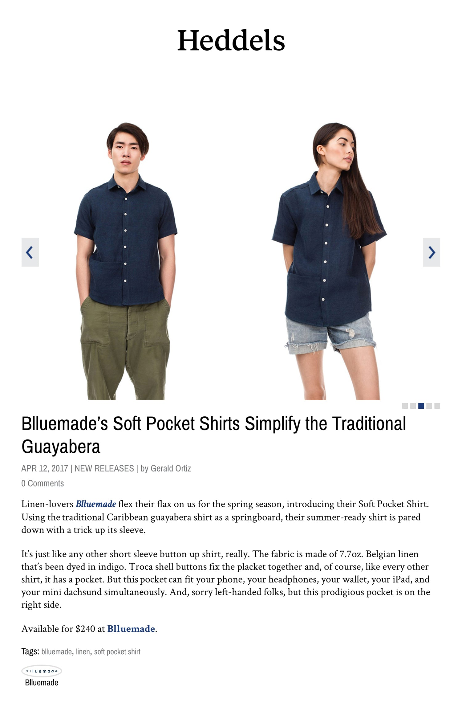 Heddels Article Blluemade's Soft Pocket Shirts Simplify the Traditional Guayabera