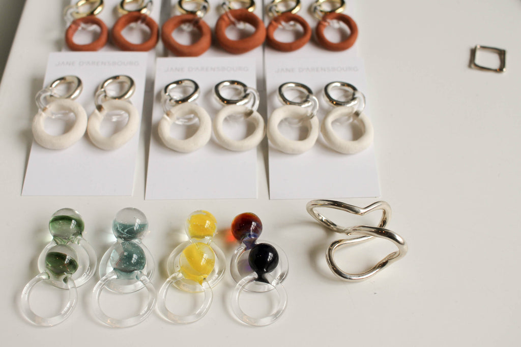 Jane D'Arensbourg, jewelry, glass jewelry, brooklyn, brooklyn artisan