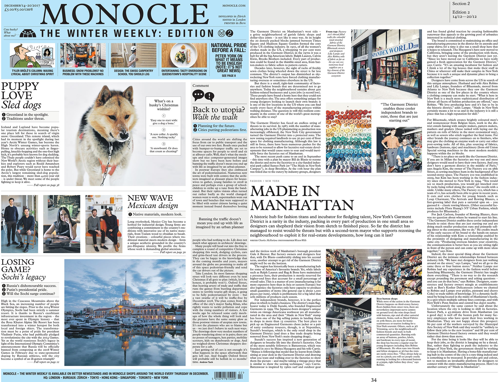Monocle Made in Manhattan Blluemade article