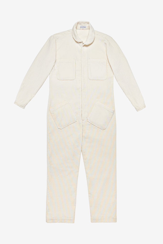 Jumpsuit in Snow Corduroy