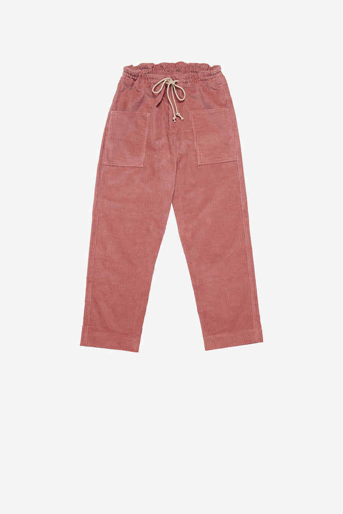 Patch Pant in Rose Corduroy