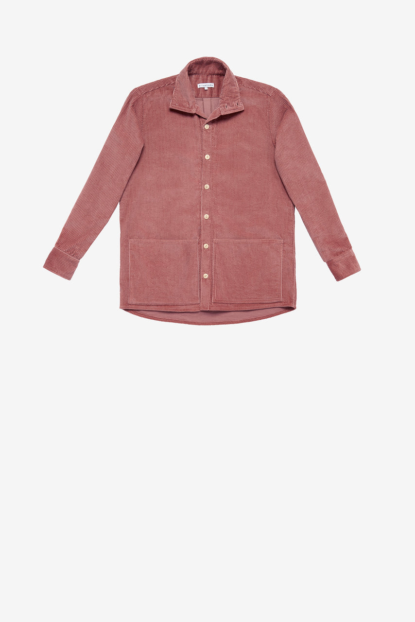 Jacket Shirt in Rose Corduroy