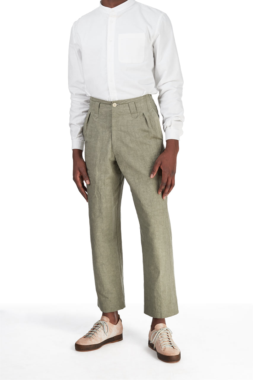 Sailor Pant in Artichoke Canvas